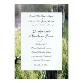 Fencepost and Barbed Wire Rustic Wedding Invitations