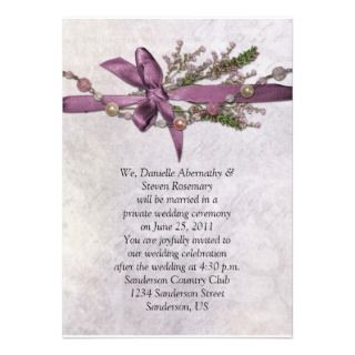 Vintage Pink Post Wedding Celebration Invitiation Custom Invites