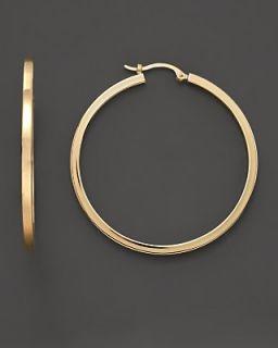 14K Gold Extra Large Hoop Earrings
