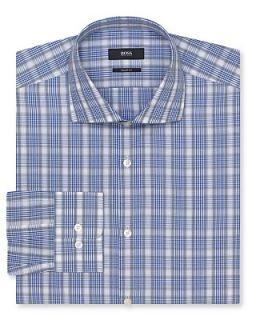 BOSS Black Miles Plaid Dress Shirt   Contemporary Fit