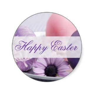 Happy Easter Decorated Eggs Designs Sticker