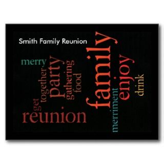 Family Reunion Postcards