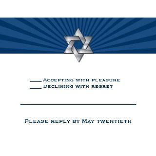 Josiah Silver Jewish Star Bar Mitzvah Invitation invitation