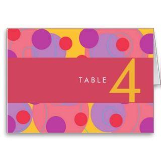 Retro Blackberry Dots Wedding / Party Table Card