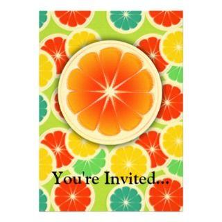 Citrus Fruit Design, Cute Colorful Custom Invitations