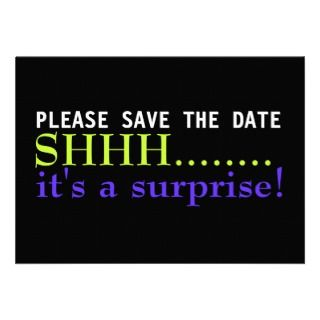 Save the Date Surprise 75th Birthday Invitation