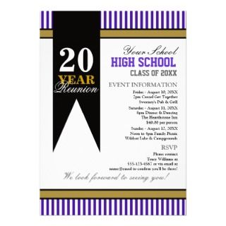 High School Class Reunion Custom Invite