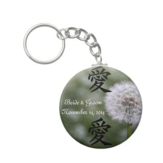 Wild Flowers Wedding Invitations and Favors Keychain
