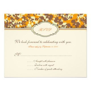 Four Seasons Response Card Custom Invites