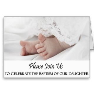 Bautizo/invitación del bautismo para la niña tarjeton de