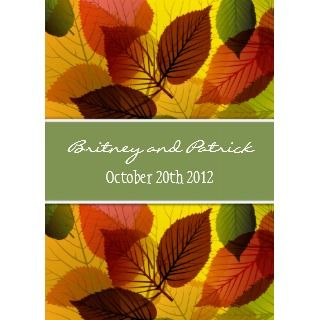 Autumn Sage Falling Leaves Wedding Invitations_invitation