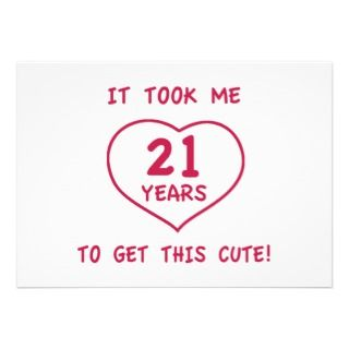 Funny 21st Birthday Invitations, Announcements, & Invites