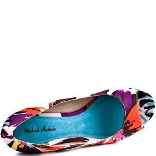 Michael Antonios Multi Color Alura   Brown Floral Print for 59.99