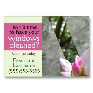 Window cleaning business promotional card GRN Business Card Templates