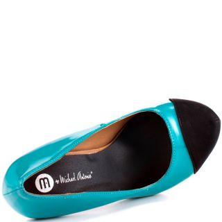 Michael Antonios Multi Color Louie   Teal Black Pat PU for 49.99