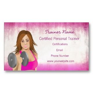 Personal trainer business card for Sample personal trainer business cards