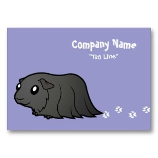 Cartoon Guinea Pig (black) business cards by SugarVsSpice