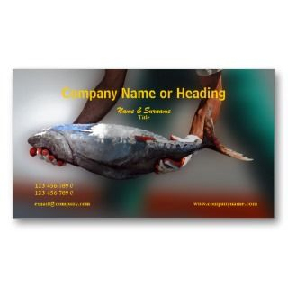 fishing harbor tuna CUSTOMIZE Business Cards