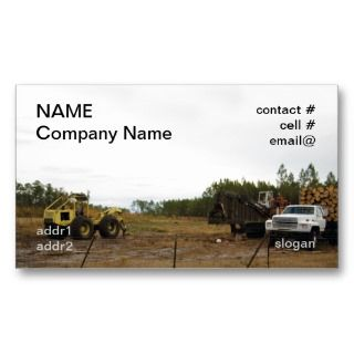 logging equipment on the deck business card templates