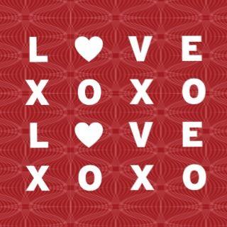 XO Love Valentines Party Invitation