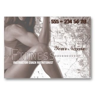Miss Fitness III   Business , Schedule Card Business Card Templates