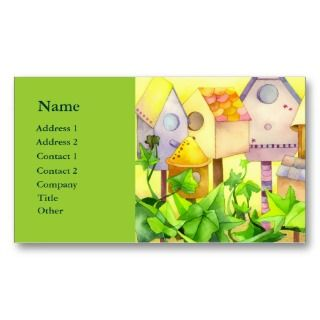 Bird Houses Business Cards