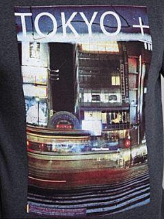 Jack & Jones Long sleeved Tokyo graphic sweater Navy