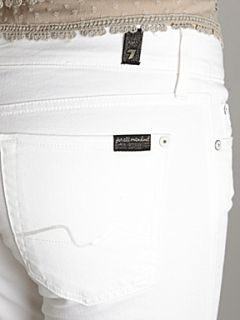 7 For All Mankind Mid rise skinny leg Gwenevere jeans White