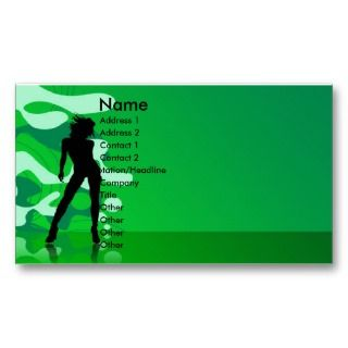 Chick Silhouette  Business Card