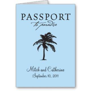 Antigua Passport Wedding Invitation Greeting Card