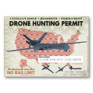 Drone Hunting Permits Business Card Templates