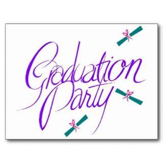 2012 Graduation Party invitation High School Postcard