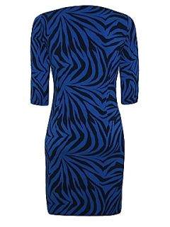 Minuet Petite Blue Zebra Print Jersey Dress Blue