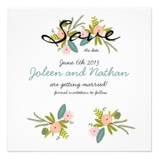 Flora and Fauna Invitation SAVE THE DATE