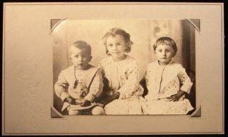 Photo 2 Little Girls and Boy 3 Children Siblings Dodsworth Kasson MN