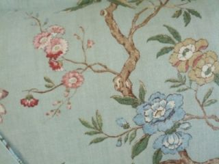GP J Baker Linen Fabric Designer Custom Bed Pillows New Set 2 Aqua