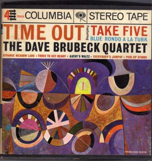 Time Out Dave Brubeck Quartet Reel to Reel Tape 4 Track 7 1 2 IPS
