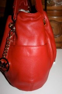 Michael Kors Jet Set Chain Ring Tote Leather 30S2GTCT3L Red Color $298