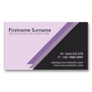 Stylish Interior Decorator w/ Logo Business Cards