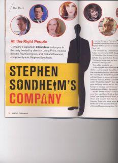 Company Playbill Stephen Sondheim Neil Patrick Harris Stephen Colbert