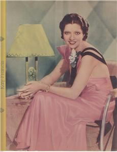 Film Star 1930s 40s Oversize Prom Card Kay Francis
