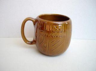 Hawaii Made Edward Kavacraft Brown Ceramic Coffee Mug