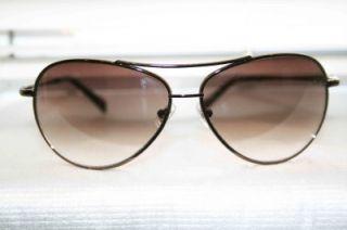 Designer Fossil Kaylor Metallic Copper Frame Brown Men Sunglass Shade
