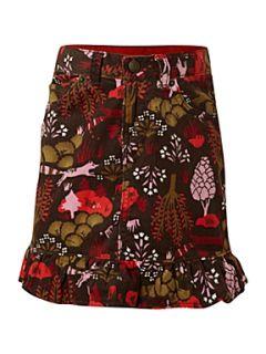 Lands End Girl`s ruffle hem cord skirt Multi Coloured