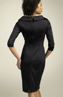 Kay Unger Stretch Satin Sheath Dress Mob 10 $328 00