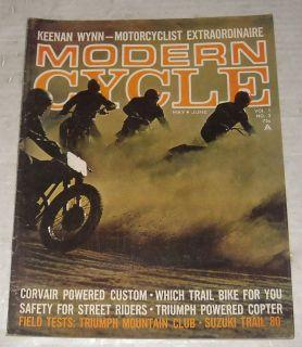 Cycle Motorcycle Magazine Keenan Wynn Actor Suzuki Trail 80