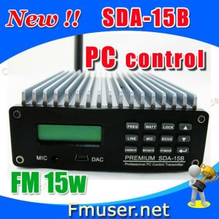 15W FM Radio Transmitter Kit PC Control Temp SWR Protection