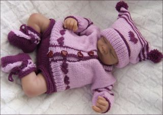 Knitting Pattern Baby All In One Suit : Knitting Pattern KP38 baby all in one suit and hat preemie, 0 3mths UK termin...