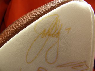 1999 Denver Broncos Team Signed Super Bowl XXXIII Autographed Football