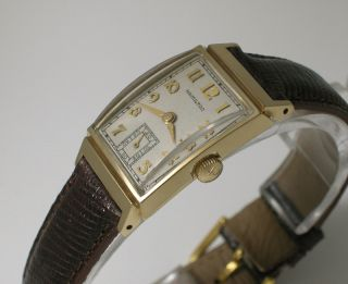 Very RARE Vintage 1949 Hamilton KEITH14K Gold Step Lugs 19J Mint Dial